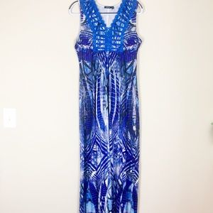 Apt. 9 Size Med Maxi Dress Blue Print